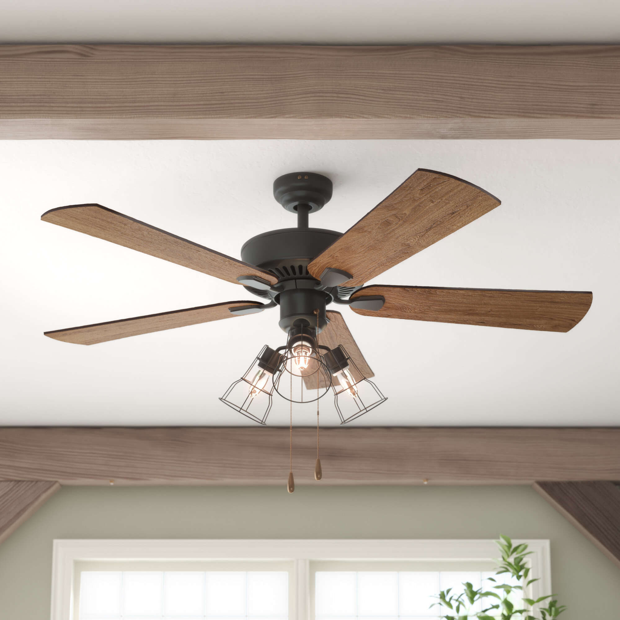 Three Posts 52 Socorro 5 Blade Led Standard Ceiling Fan With Light Kit Included Reviews Wayfair