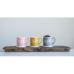 Hobart Fri, Sat and Sun Weekend 3 Piece Coffee Mug Set