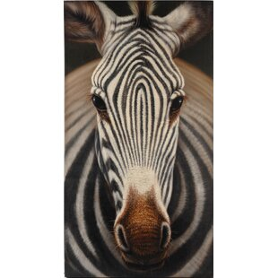 Zebra Photographic Print On Canvas