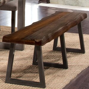 Okmulgee Metal/Wood Bench by Loon Peak