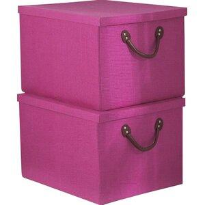 2-tlg. Aufbewahrungsbox Inishcoo aus Textil von ..