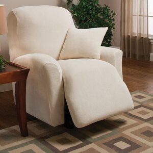 Stretch Microfleece Box Cushion Recliner Slipcover