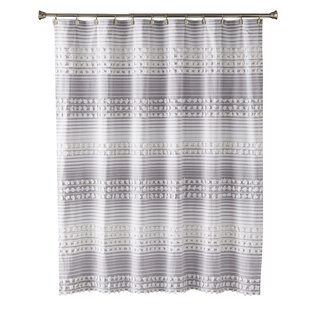 Charleigh Stripe Cotton Single Shower Curtain