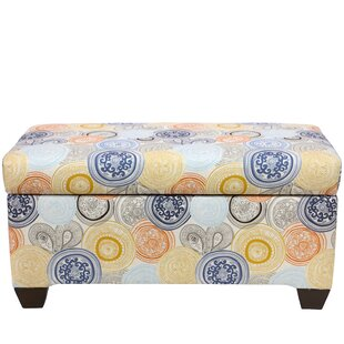 Jacquelyn Linen Upholstered Storage Bench