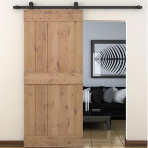 Solid Wood Room Dividers Interior Barn Door With Hardware Kit