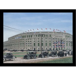 'Yankee Stadium' Print Poster by Darryl Vlasak Framed Memorabilia by Buy Art For Less