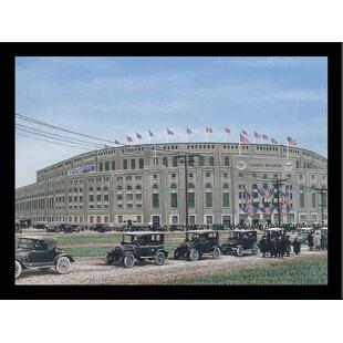 'Yankee Stadium' Print Poster by Darryl Vlasak Framed Memorabilia by Buy Art For Less