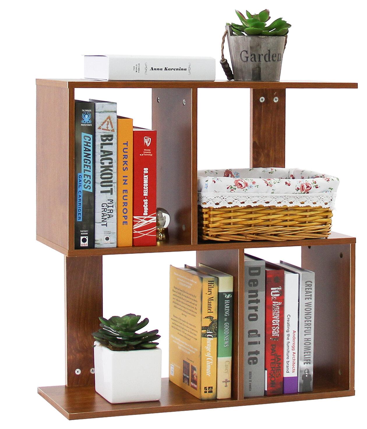 NEW Small 2 Shelf Bookcase Wood Bookshelf Storage Adjustable Shelving Organizer