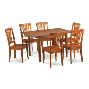 Lorelai 7 Piece Dining Set by Alcott Hill Bargain