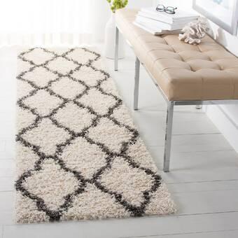 Wrought Studio Rennie Geometric Handmade Cotton Grey Ivory Area Rug Wayfair