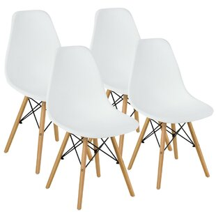 Hinson Plastic Side Chair in White Set of 4