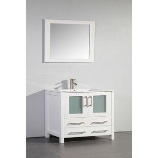 Savings Bove 30 Single Bathroom Vanity Set with Mirror By Wrought Studio