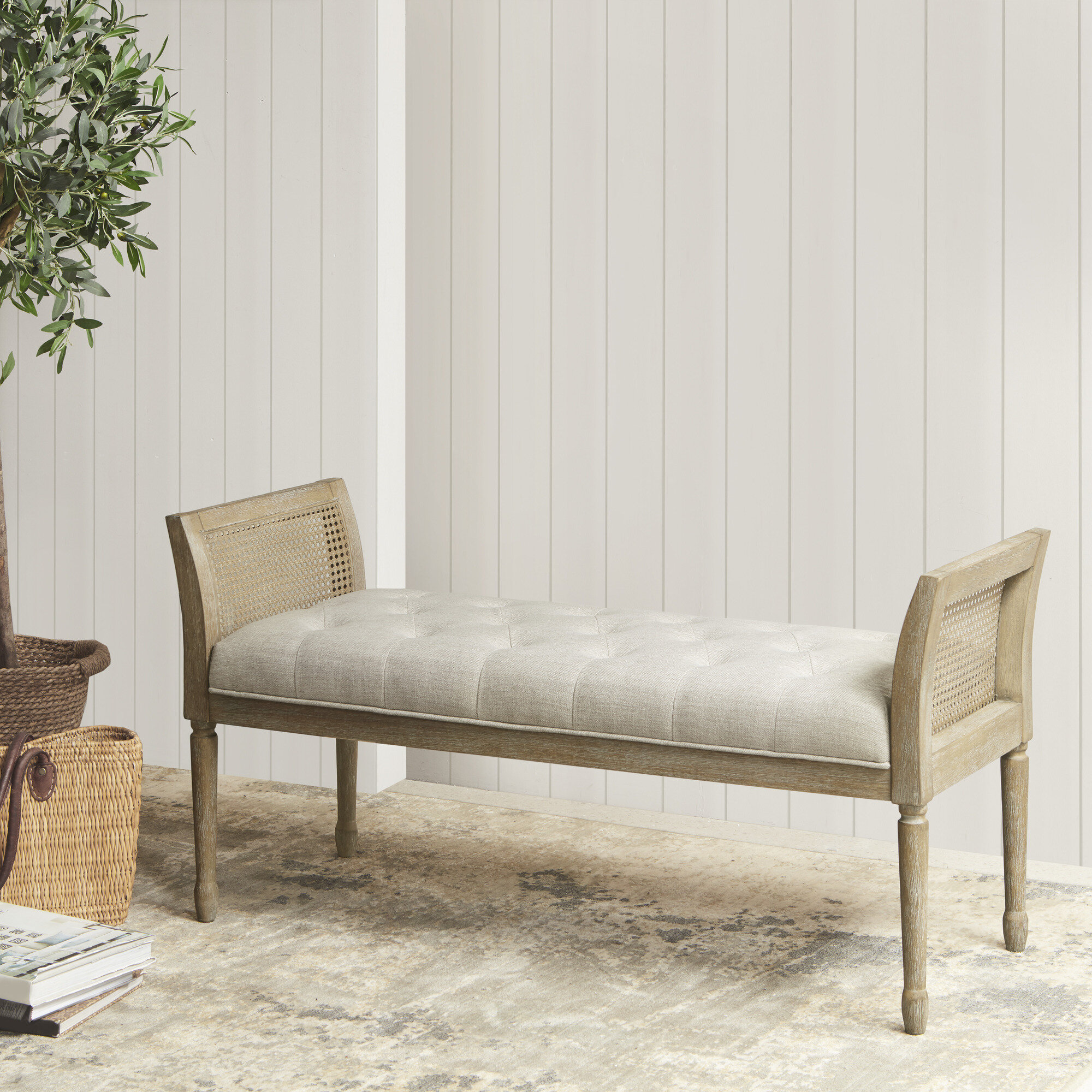Magnificent Martha Stewart Isla Upholstered Bench Lamtechconsult Wood Chair Design Ideas Lamtechconsultcom