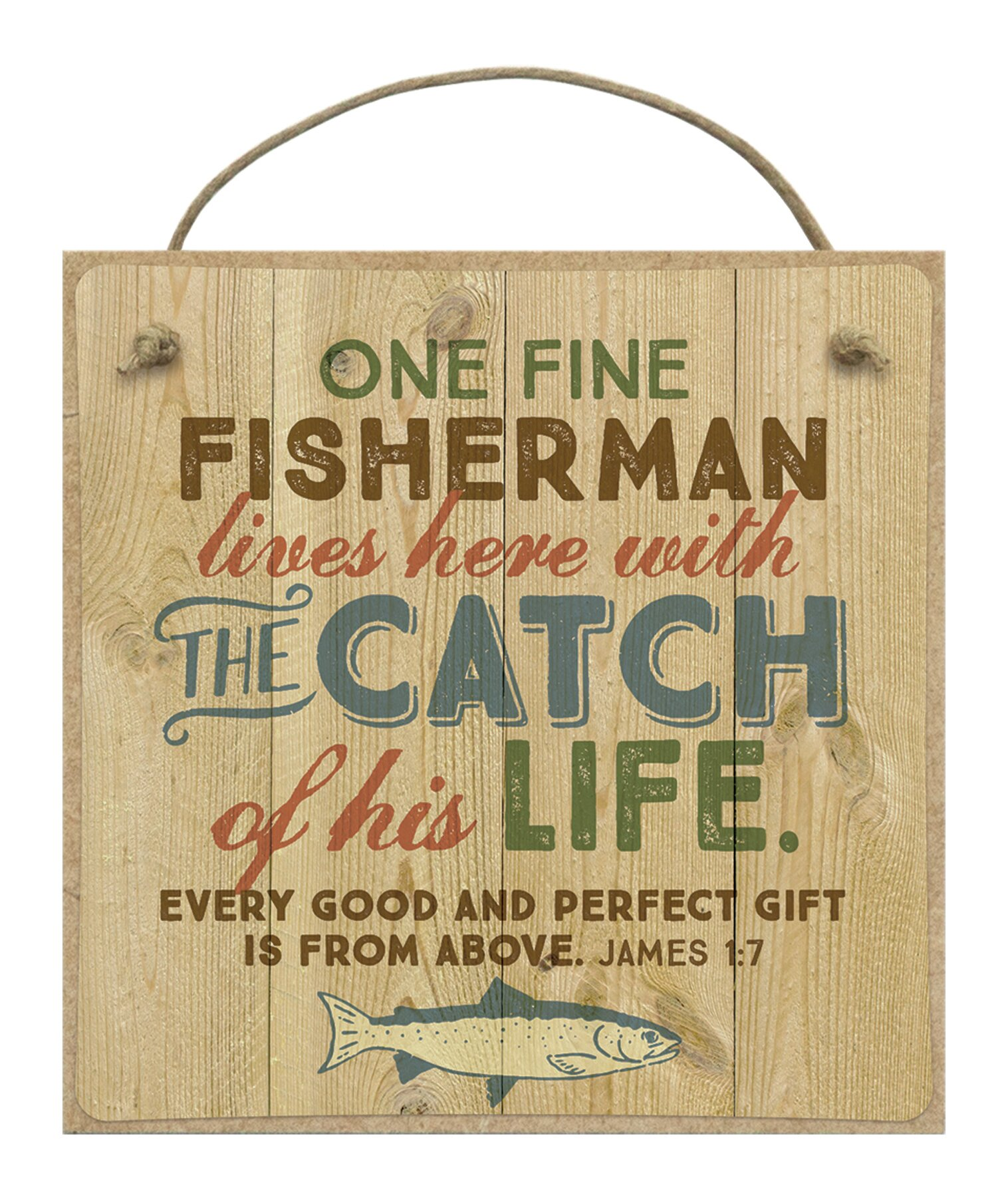 Loon Peak One Fine Fisherman And The Catch Wall Décor Wayfair