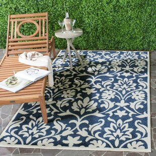 Washer Navy/Ivory Indoor/Outdoor Area Rug