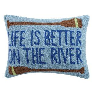 Life Is Better On The River Wool Lumbar Pillow