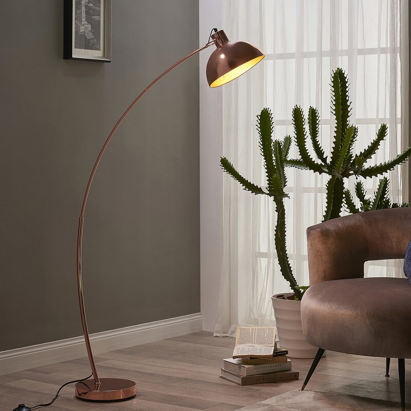 63 arched floor lamp