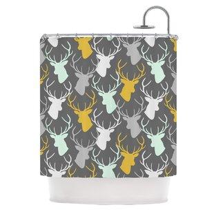 Scattered Deer Shower Curtain