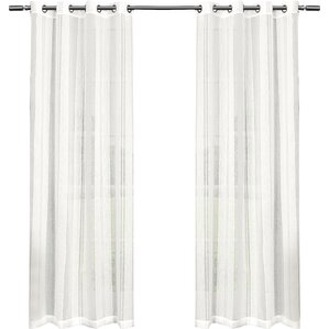 exclusive home solid sheer curtain panels set of 2