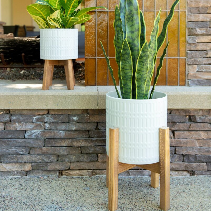 Union Rustic Shayla 2 Piece Ceramic Pot Planter Set Reviews Wayfair
