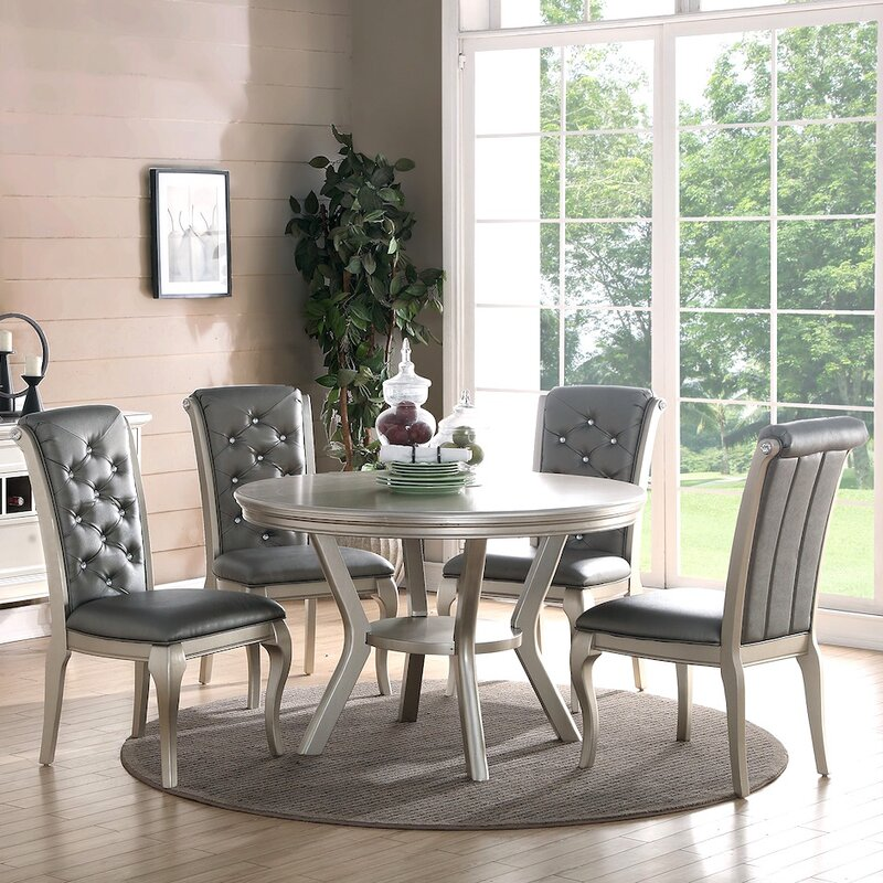 5 Piece Dining Sets infini furnishings adele 5 piece dining set & reviews | wayfair