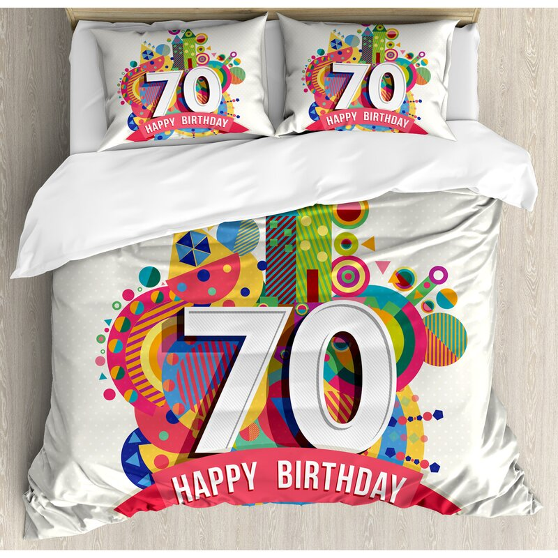 70th Birthday Decorations Duvet Set