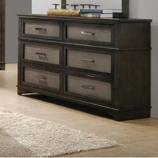 Hunter 6 Drawer Double Dresser by Mercer41 Best Choices