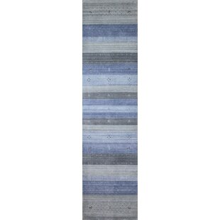 Shopping for One-of-a-Kind Creve Indo Loribaft Hand-Knotted 2'6 x 10' Blue Area Rug By Isabelline