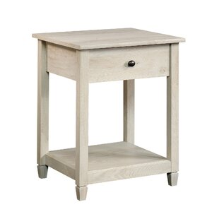 Reviews Lamantia End Table with Storage by Three Posts