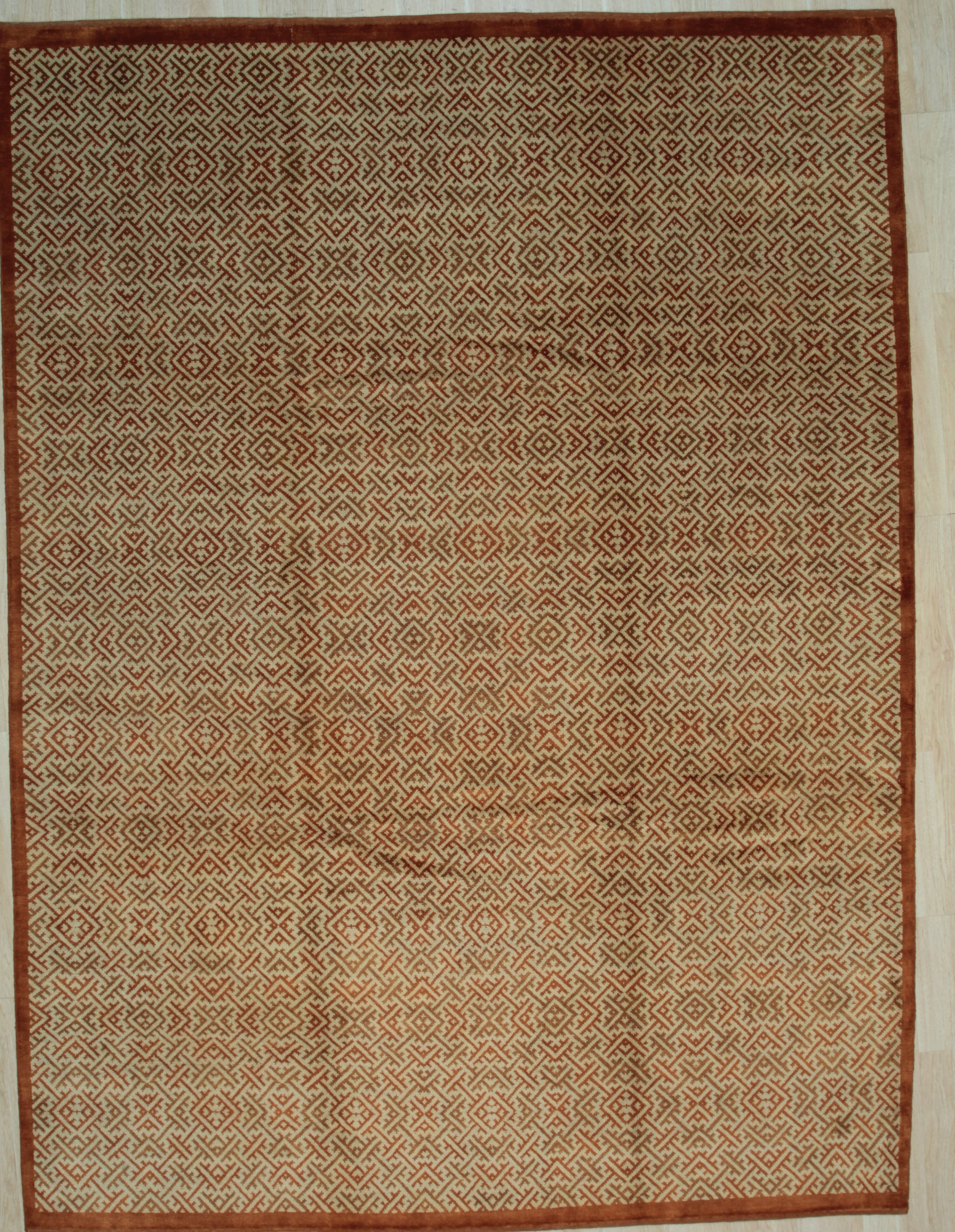 Gracie Oaks Minerville Hand Knotted Wool Brown Rug Wayfair