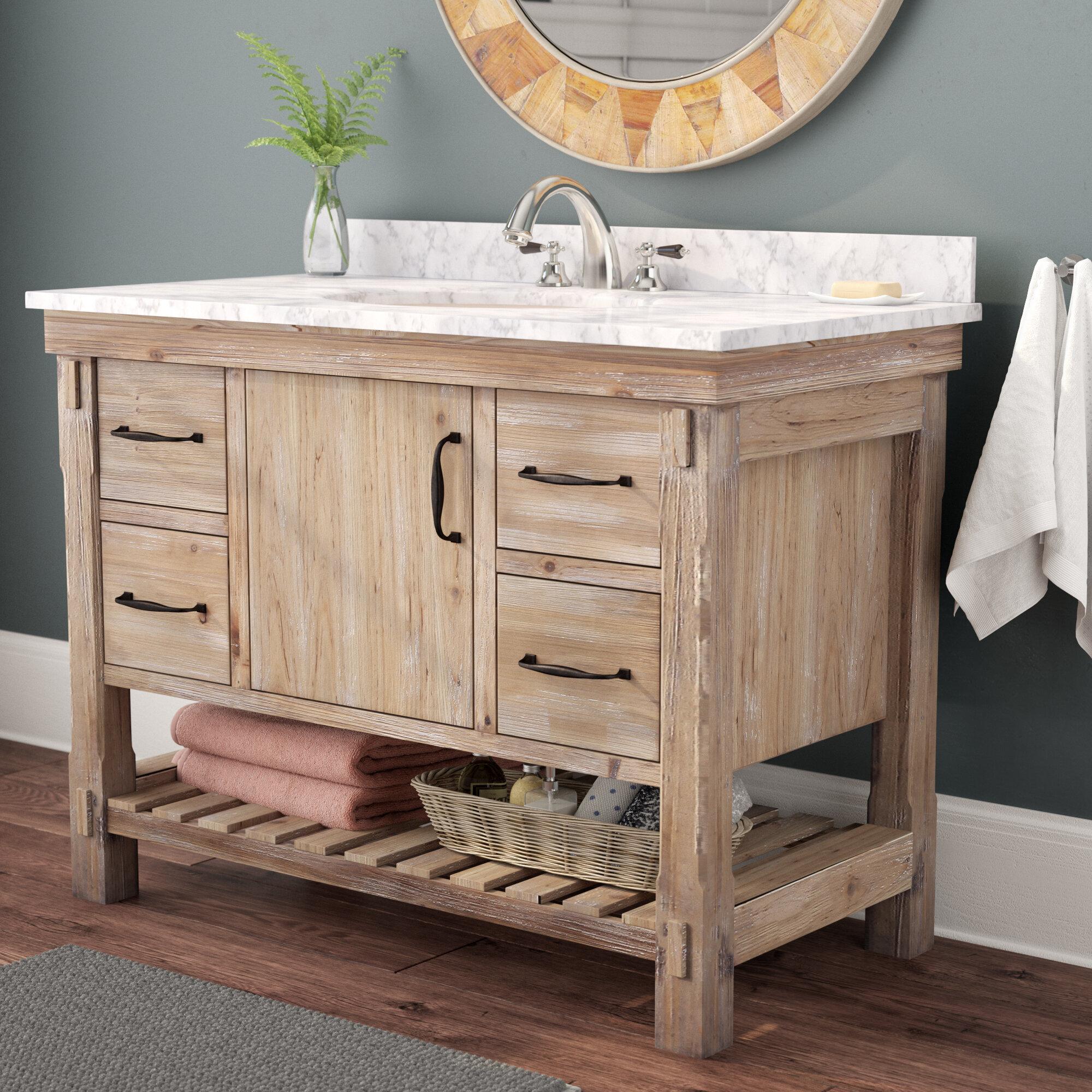 union rustic loftin 42 single bathroom vanity set wayfair. Black Bedroom Furniture Sets. Home Design Ideas