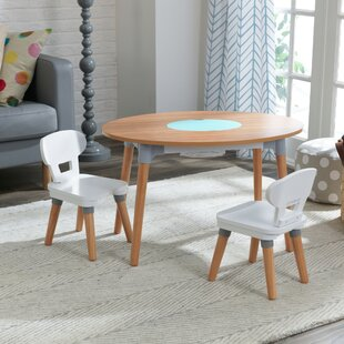 Awesome Mid Century Kids 3 Piece Activity Table And Chair Set Inzonedesignstudio Interior Chair Design Inzonedesignstudiocom