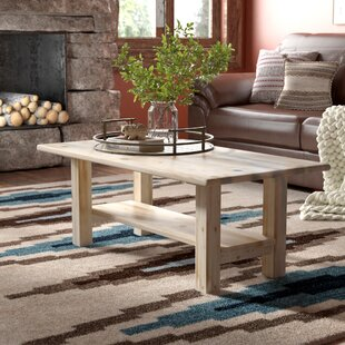 Online Reviews Abella Coffee Table with Shelf by Loon Peak
