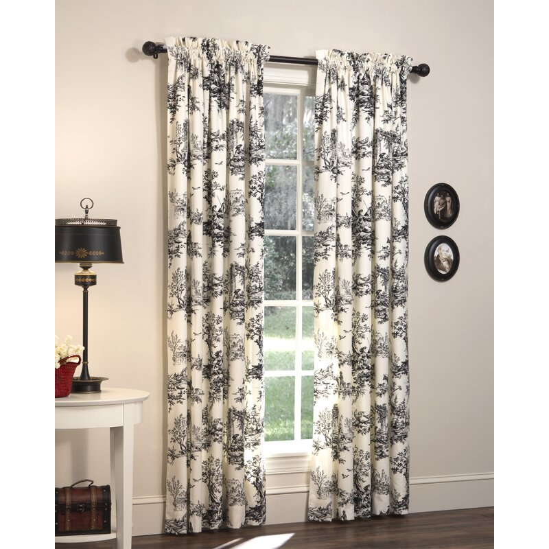 Darby Home Co Tryston Nature Floral Room Darkening Rod Pocket Curtain Panels Reviews Wayfair