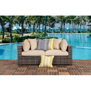 Hartman Outdoor 2 Piece Sofa Seating Group with Cushions by Bayou Breeze