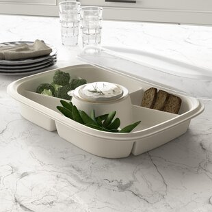 Extra Large Party Divided Serving Dish