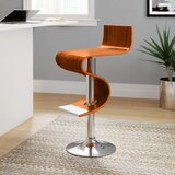 Glenavy Adjustable Height Swivel Bar Stool by Orren Ellis