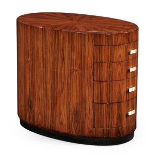 Drum End Table with Storage by Jonathan Charles Fine Furniture