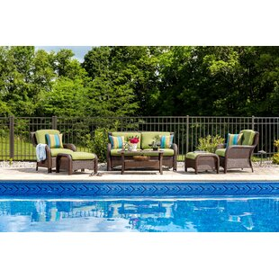 Sawyer 6 Piece Sunbrella Sofa Seating Group with Sunbrella Cushions