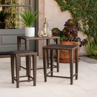 Kinslow 3 Piece Wicker Nesting Table Set