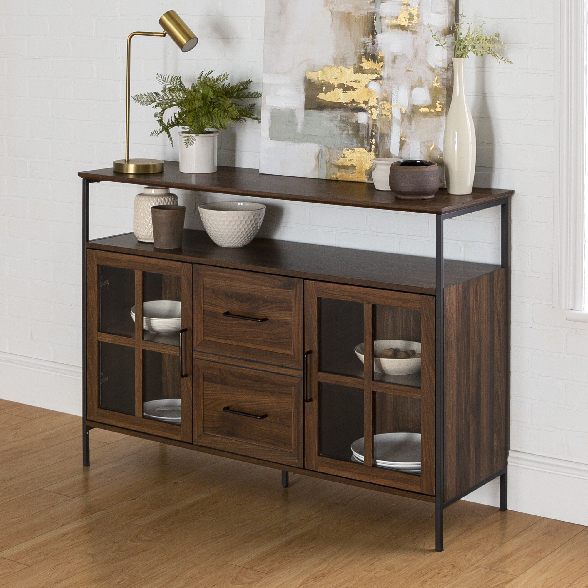 Picture of: Gracie Oaks Dostie 48 Wide Buffet Table Reviews Wayfair