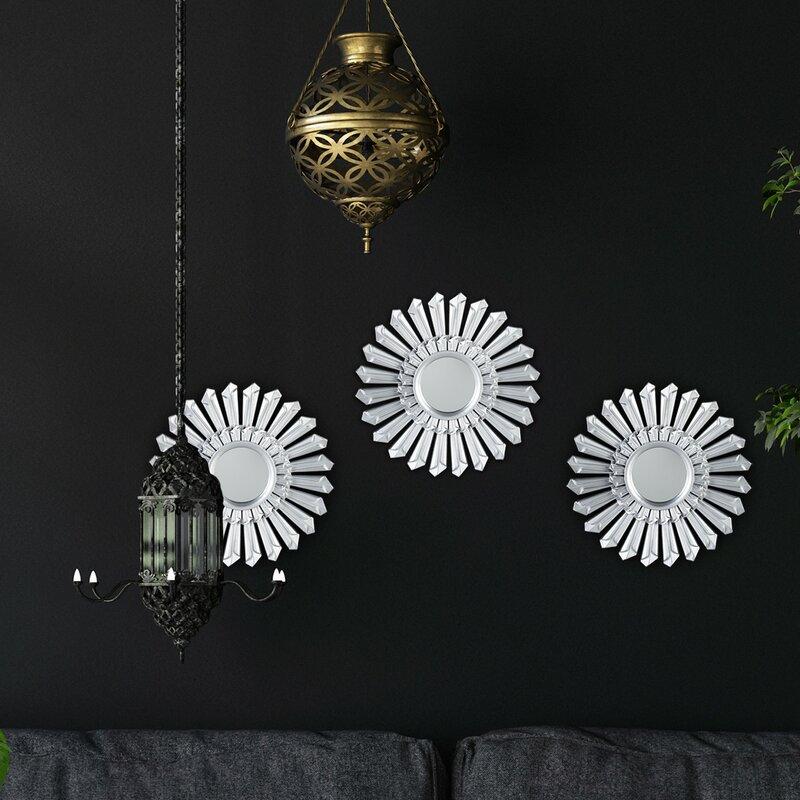 World Menagerie Zafiro Wall Mirror Set Reviews Wayfair Co Uk