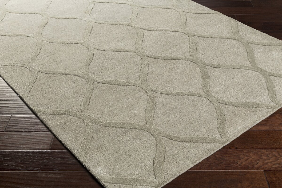 Mey Hand Tufted Wool Taupe Area Rug