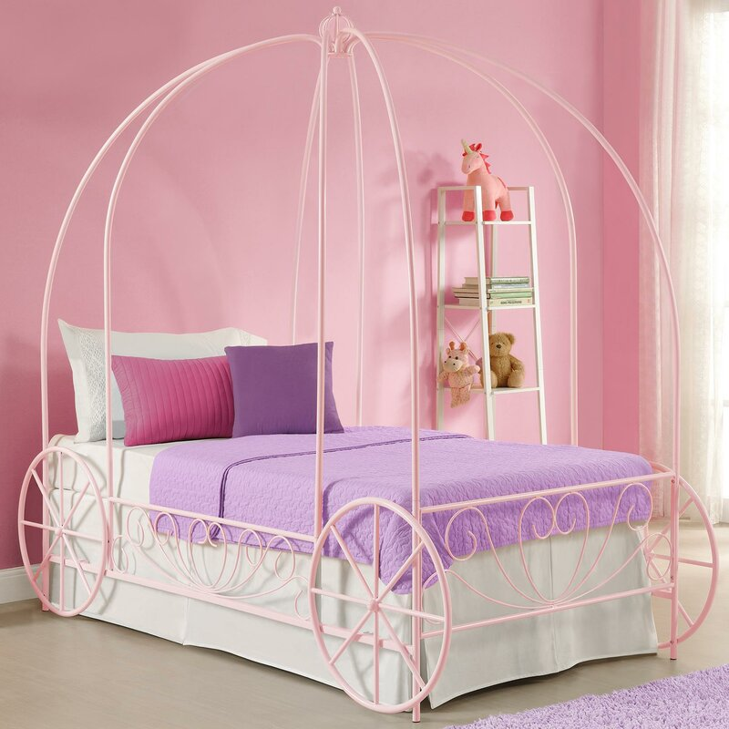 Brandy Twin Canopy Bed & Zoomie Kids Brandy Twin Canopy Bed u0026 Reviews | Wayfair