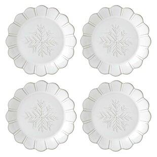 Alpine Carved Accent Dessert Plate (Set of 4)