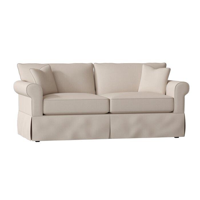 Birch Lane Heritage Rolled Arm cloth Sofa   Item# 9817