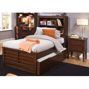 Read Reviews Virginia Youth Bedroom Bookcase Headboard in Burnished Tobacco By Grovelane Teen