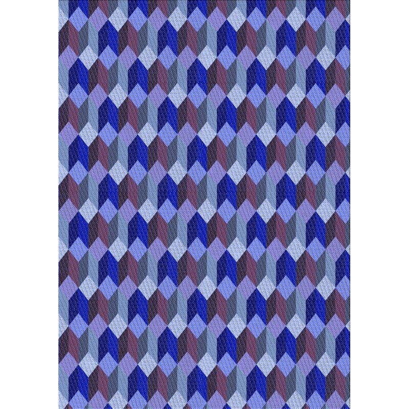 East Urban Home Rayborn Geometric Wool Blue Light Purple Area Rug Wayfair