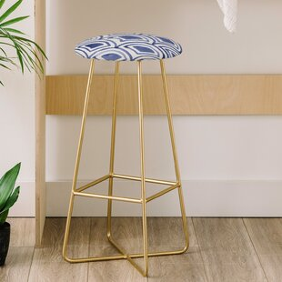 Natalie Baca Geo Wave Indigo 31 Bar Stool
