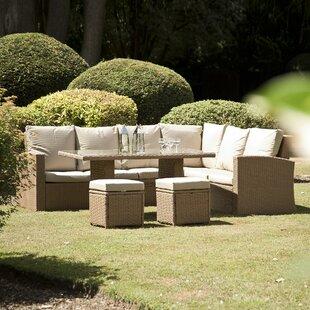 Baysden 4 Piece Rattan Sofa Set with Cushions